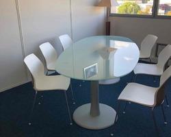 Table de réunion, ovale, en verre - Aubagne