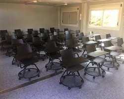 Siège scolaire mobile avec tablette Aix en Provence by Bureau Mobilier Agencement